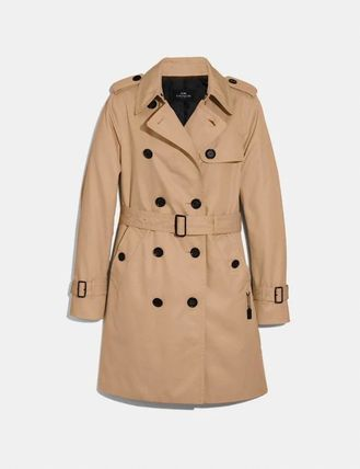 Coach Casual Style Plain Trench Coats