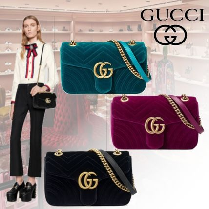 f79c644e2a69fb GUCCI GG Marmont 2018-19AW Chain Elegant Style Shoulder Bags (443497 ...