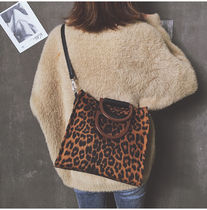 Leopard Patterns Casual Style 2WAY Totes