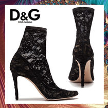 Dolce & Gabbana Round Toe Pin Heels Elegant Style Ankle & Booties Boots