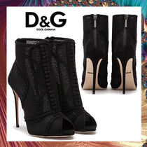 Dolce & Gabbana Suede Pin Heels Elegant Style Ankle & Booties Boots