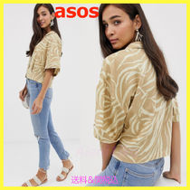 ASOS Casual Style Other Animal Patterns Cotton Short Sleeves