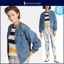 Ralph Lauren Short Casual Style Denim MA-1 Bomber Jackets