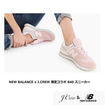 New Balance Rubber Sole Casual Style Suede Collaboration Plain