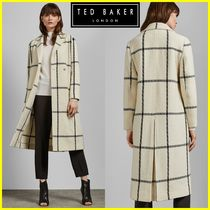 TED BAKER Other Check Patterns Wool Long Elegant Style Coats