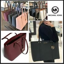 Michael Kors Saffiano A4 Plain Office Style Totes