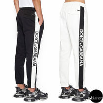 Dolce & Gabbana Bi-color Cotton Joggers & Sweatpants
