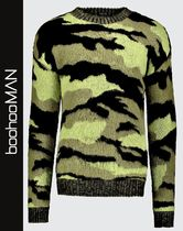 boohoo Crew Neck Pullovers Camouflage Street Style Long Sleeves