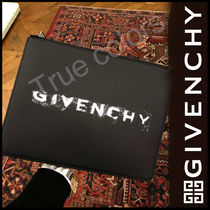 GIVENCHY Street Style Leather Clutches