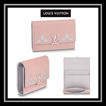 Louis Vuitton CAPUCINES Heart Studded Leather Folding Wallets