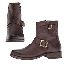 FRYE Round Toe Casual Style Plain Leather Flat Boots