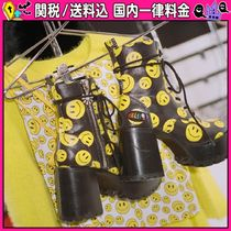 DOLLS KILL Platform Round Toe Lace-up Casual Style Faux Fur