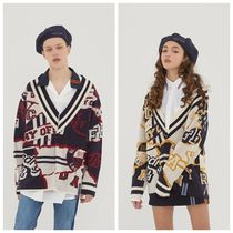 ROMANTIC CROWN Unisex Street Style Oversized Cardigans