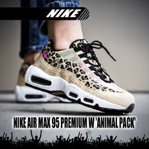 Nike AIR MAX 95 Leopard Patterns Casual Style Low-Top Sneakers