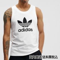 adidas Street Style Plain Cotton Tanks