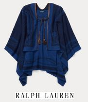 Ralph Lauren Wool Blended Fabrics Tassel Ponchos & Capes