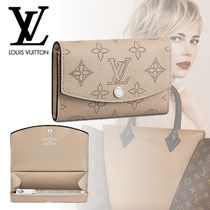 Louis Vuitton MAHINA Plain Leather Coin Purses