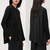 COS Crew Neck Casual Style Silk Blended Fabrics Long Sleeves