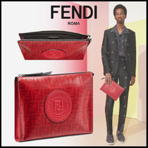 FENDI Monogram Unisex Bag in Bag Clutches