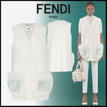 FENDI Wool Long Vests