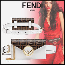 FENDI 3WAY Chain Plain Elegant Style Bags