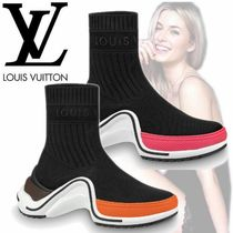 Louis Vuitton Wedge Casual Style Blended Fabrics Street Style