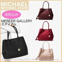 Michael Kors A4 2WAY Plain Leather Office Style Totes