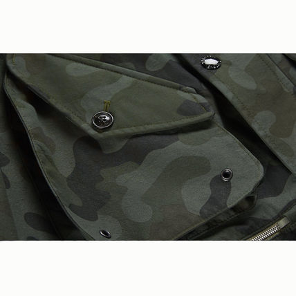 Stand Collar Coats Short Camouflage Coats