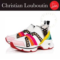 Christian Louboutin Platform Casual Style Blended Fabrics Studded Street Style