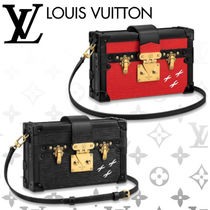 Louis Vuitton PETITE MALLE Blended Fabrics 2WAY Leather Elegant Style Shoulder Bags