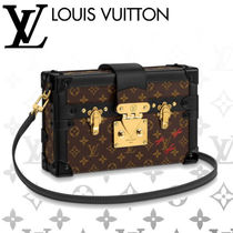 Louis Vuitton PETITE MALLE Monogram Casual Style 2WAY Chain Leather Shoulder Bags
