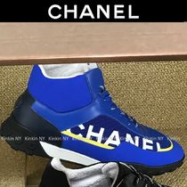 CHANEL Bi-color Logo Sneakers