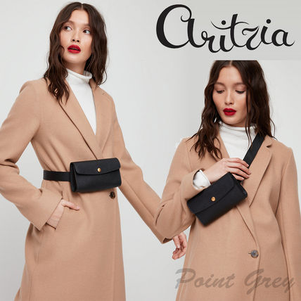 [Aritzia / Auxiliary] Leather Snap Belt Bag