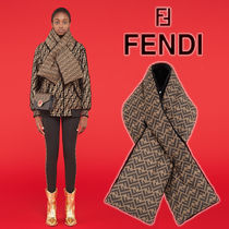 FENDI Monogram Unisex Nylon Heavy Scarves & Shawls