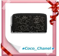 CHANEL Studded Long Wallets