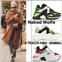 Naked Wolfe Platform Casual Style Bi-color Leather
