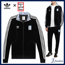 adidas Stripes Unisex Velvet Street Style Collaboration
