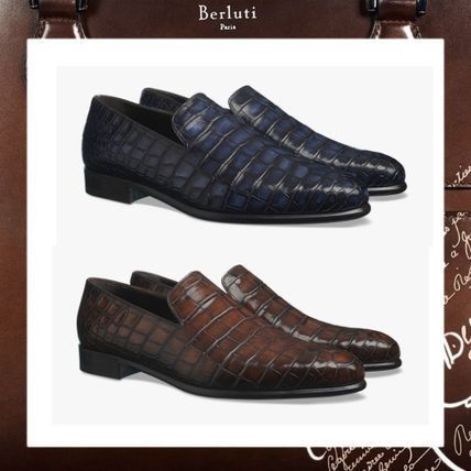 b5d06fff9f7 Berluti Loafers   Slip-ons Loafers Other Animal Patterns Leather Loafers ...