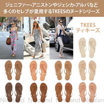 TKEES Rubber Sole Casual Style Leather Sandals