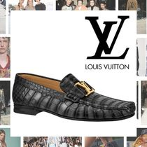 Louis Vuitton MONTAIGNE Moccasin Blended Fabrics Other Animal Patterns Leather