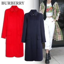 Burberry Other Check Patterns Unisex Cashmere Plain Long