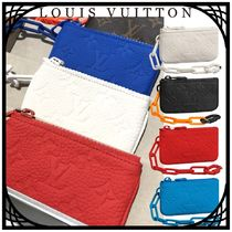 Louis Vuitton TAURILLON Monogram Unisex Street Style Chain Leather Coin Cases