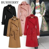 Burberry Other Check Patterns Cashmere Plain Long Elegant Style