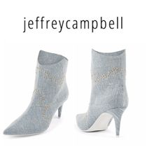Jeffrey Campbell Square Toe Casual Style Pin Heels Ankle & Booties Boots