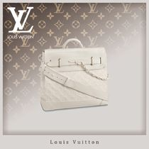 Louis Vuitton TAURILLON Blended Fabrics A4 2WAY Chain Leather