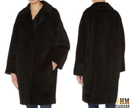 Wool Plain Medium Office Style Coats