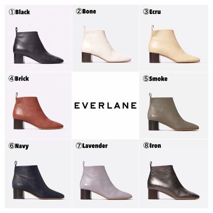 Square Toe Casual Style Plain Block Heels Mid Heel Boots