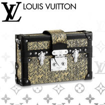 Louis Vuitton PETITE MALLE Casual Style 2WAY Chain Leather Shoulder Bags
