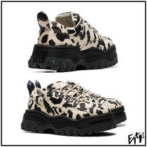 Eytys Leopard Patterns Street Style Leather Sneakers