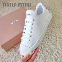 MiuMiu Casual Style Plain Low-Top Sneakers